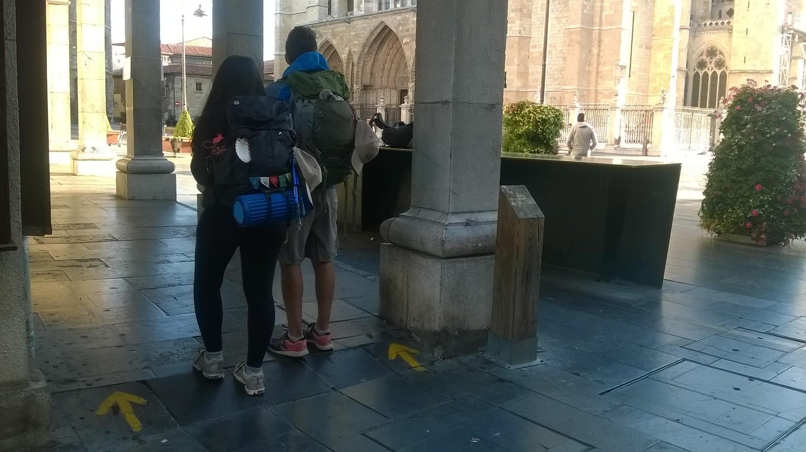 Señalética Camino de santiago en León