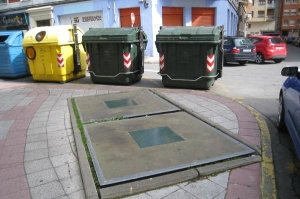 contenedores soterrados en la Avenida Alvaro López Nuñez