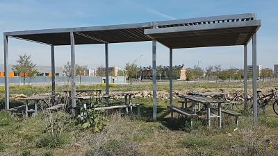 Vista de un parque de León